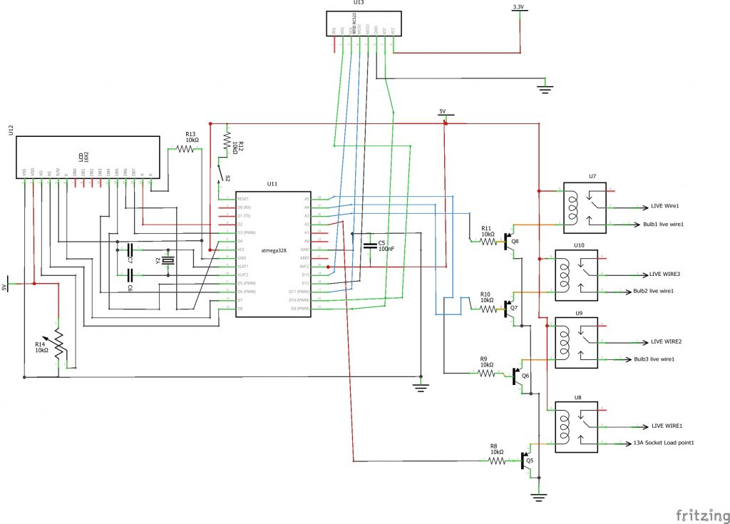 RFID circuit for home automation(Four appliances)