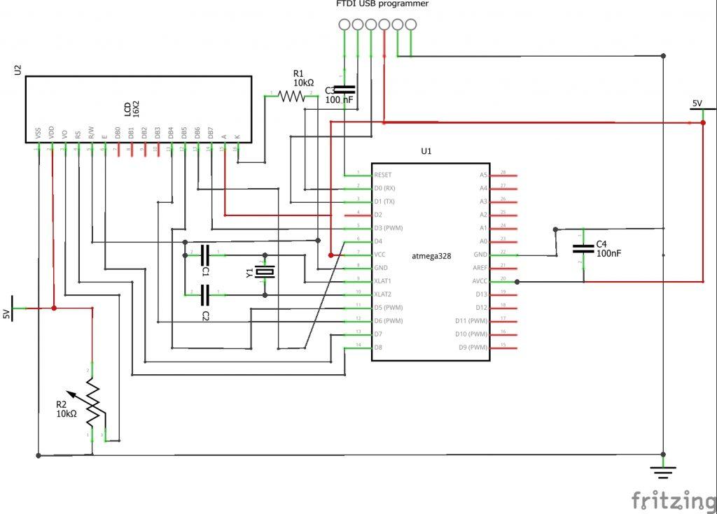circuit diagram of Arduino Standalone